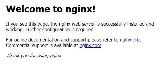 Заголовок Welcome to nginx!