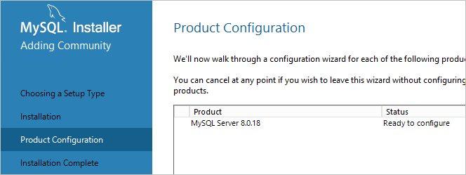 Начало настройки MySQL сразу после установки
