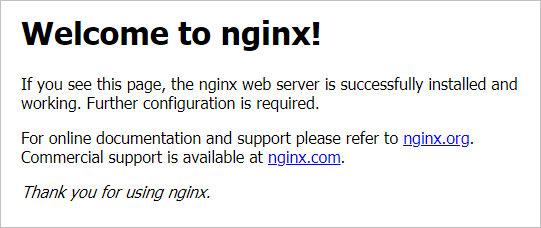 Приветствие NGINX — все настроено верно