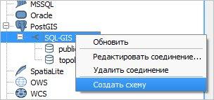 Создаем свою схему в PostgreSQL через QGIS