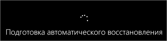 Подготовка автоматического восстановления Windows
