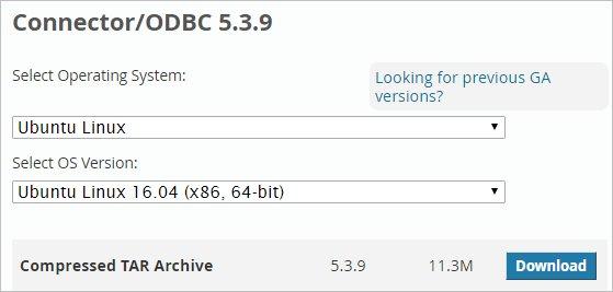 Выбор ОС при скачивании ODBC коннектора