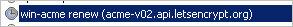 Задание в планировщике Windows для автоматического продления сертификата