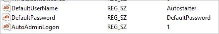 Настроенный реестр для автовхода в Windows