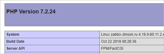 Вывод функции phpinfo