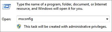 Отключить автозапуск программ через msconfig